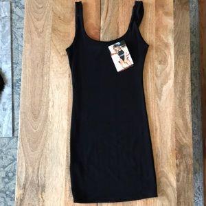Naked Wardrobe Black Tank Mini Dress
